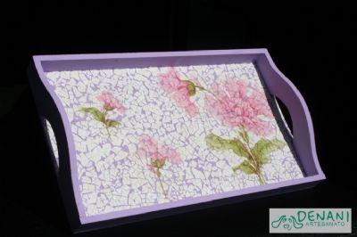 Fotos - Bandeja com mosaico de casca de ovo - 56   Denani Artesanato
