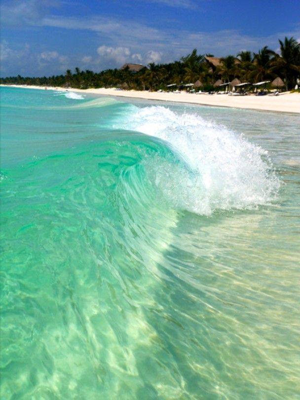 Amazing colors of Tulum's beach.