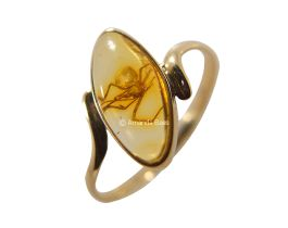 Amber Insect Inclusion Ring In Gold http://www.amandabass.com/amber-fossil-catalog/amber-insect-inclusion-rings-in-gold/gold-amber-fossil-ring-agrg0071