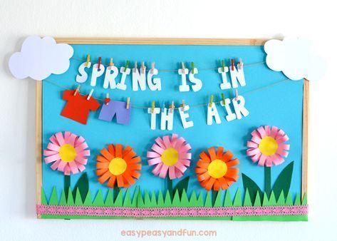 La primavera está en la idea del tablón de anuncios aéreo