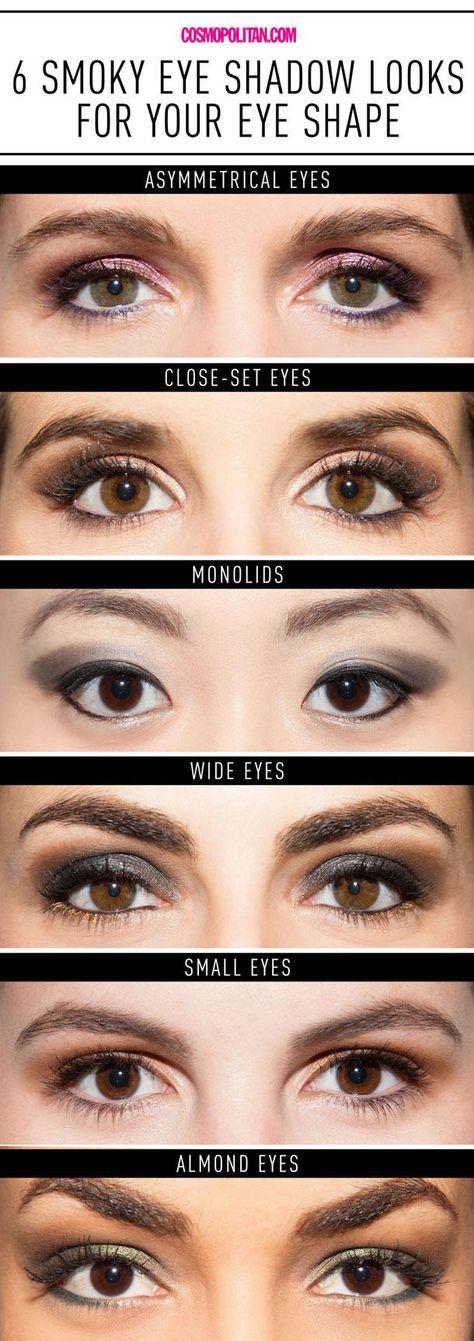 Smokey Eyes Instruções: 6 Smokey Eye Procura todas as formas dos olhos   – Makeup