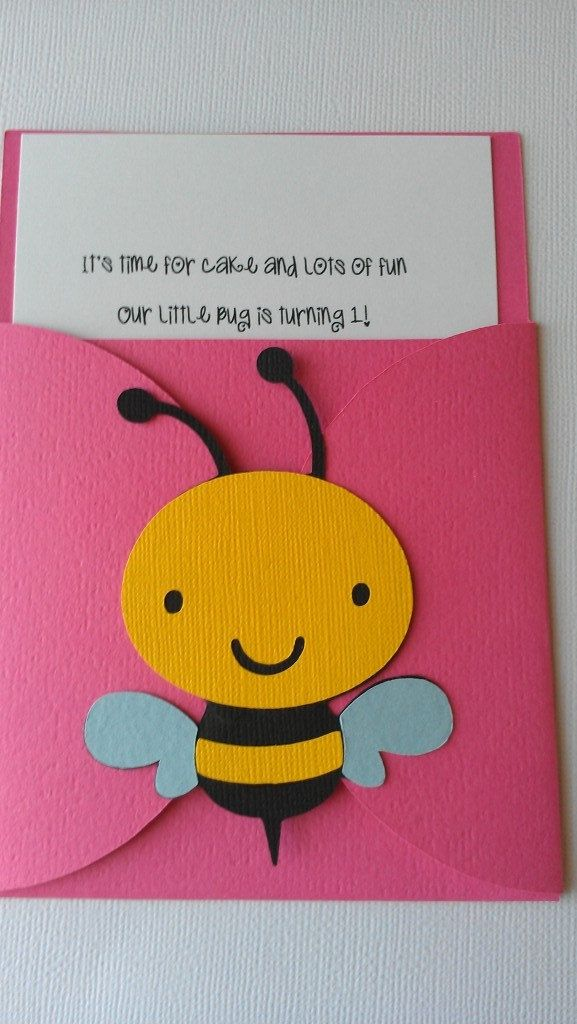 Bug, Garden party theme pocket invitation.  Pick your colors, pick your bugs or theme. $27.00, via Etsy.