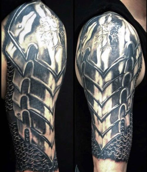Cool Arm Tattoos For Guys - Armor