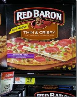 Red Baron Thin & Crispy Pizza Jut $1.98 at Walmart!
