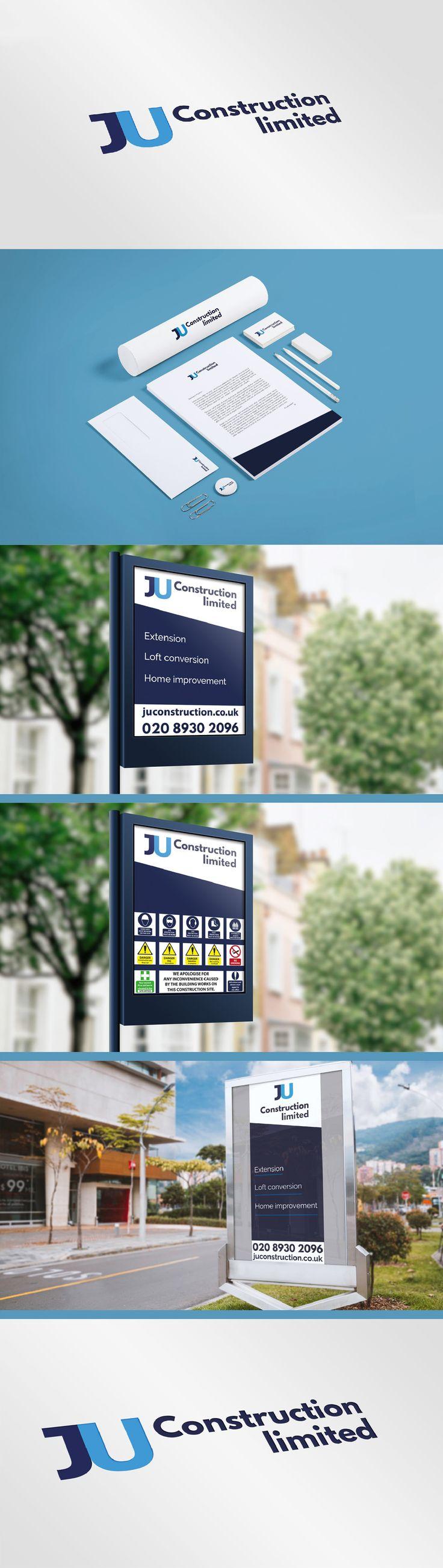 Branding for JU Construction ltd on Behance