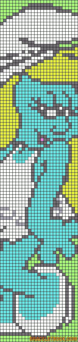 Alpha Friendship Bracelet Pattern #7302 - BraceletBook.com