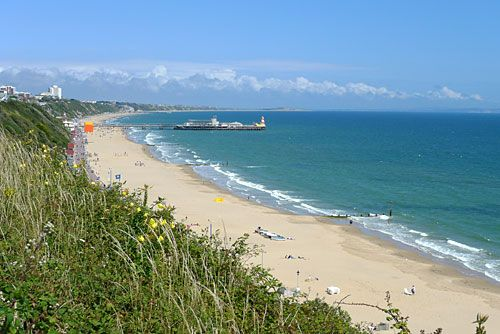 bournemouth  england  beach