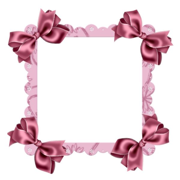 Pink Transparent Frame with Bow
