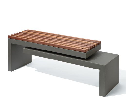 The Cantilever Bench by Ore Inc.  As shown: recycled aluminum with voc free standard powder coat.  #cantilever #bench #seating #recycled #voc #modern #contemporary