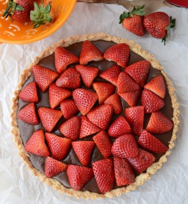 Tάρτα με φράουλες και nutella!