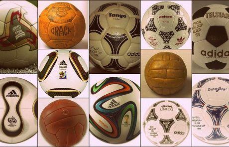 Όλες οι μπάλες των Μουντιάλ - Παγκόσμιο Κύπελλο Ποδοσφαίρου 2014 - Μundial 2014 | Contra