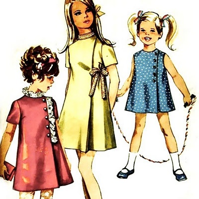 1960's Simplicity Pattern 8620 Vintage Sewing Pattern Girls' Jiffy Dress SZ 12 Breast 30. $7.99, via Etsy.