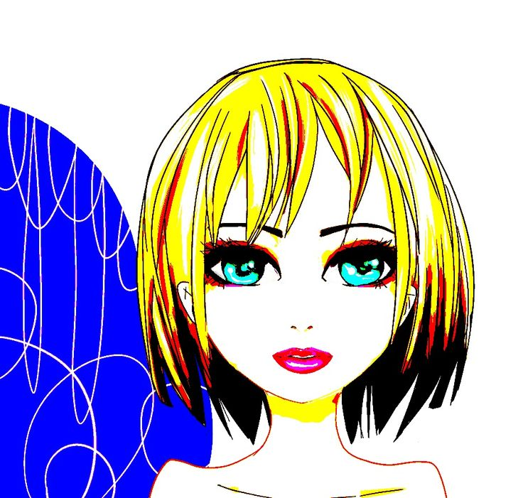 huhuhu totally not my usual style 'anime manga ish girl blond yo lips blue eyes '