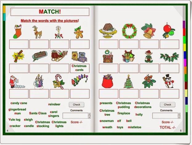 """""""Christmas"""" es un libro interactivo para el apendizaje del inglés en el que, con centro de interés en la Navidad, se practica, escuchando, leyendo y escribiendo, el vocabulario navideño y el conocimiento de las características de la Navidad."""