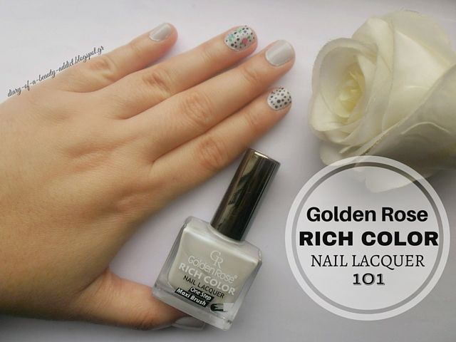 Golden Rose Rich Color Nail Lacquer 101 : Review, Swatch, Nail Art