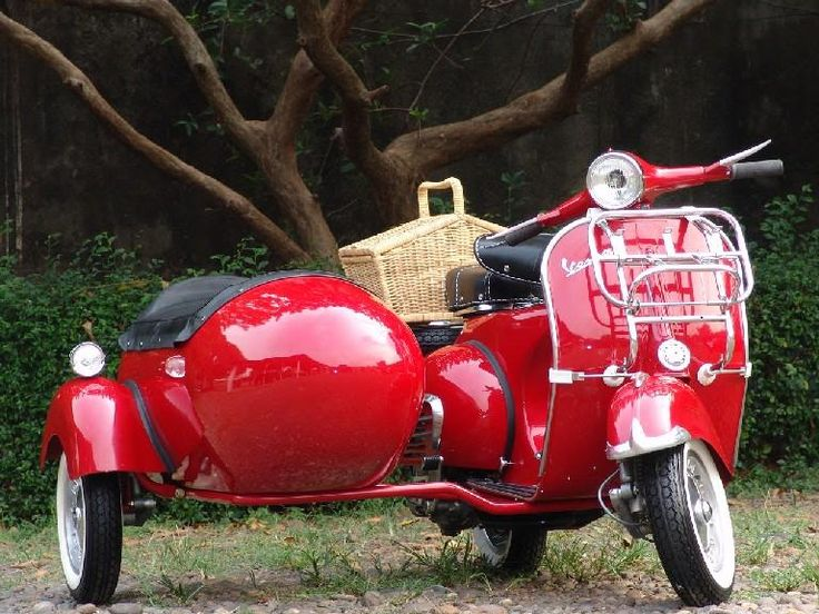 Life is more romantic on a Vespa, see...