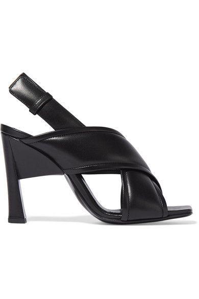 Marni | Leather slingback sandals | NET-A-PORTER.COM