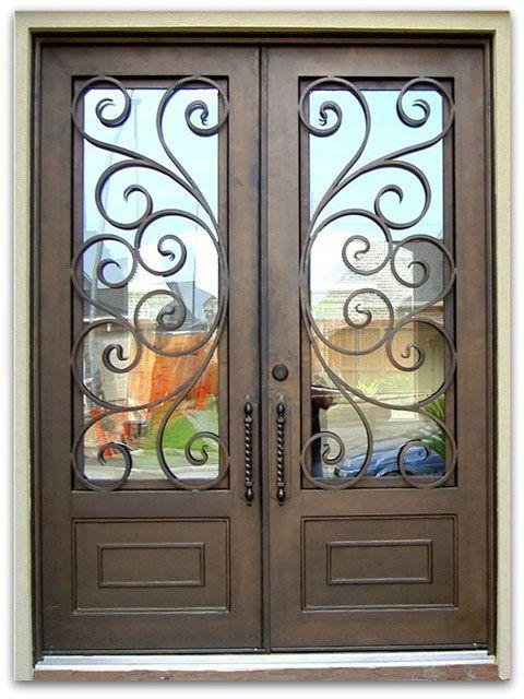 Premium Wrought Iron Front Doors - Wrought Iron Shop