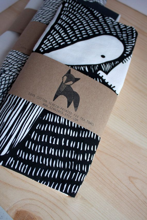 Fox Tea Towel Printed with Eco Friendly Inks by Gingiber on Etsy 18