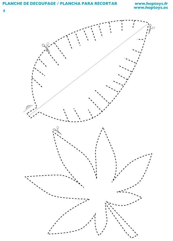 Planche à découper , à télécharger gratuitement #feuille #freetemplates #motricitéfine