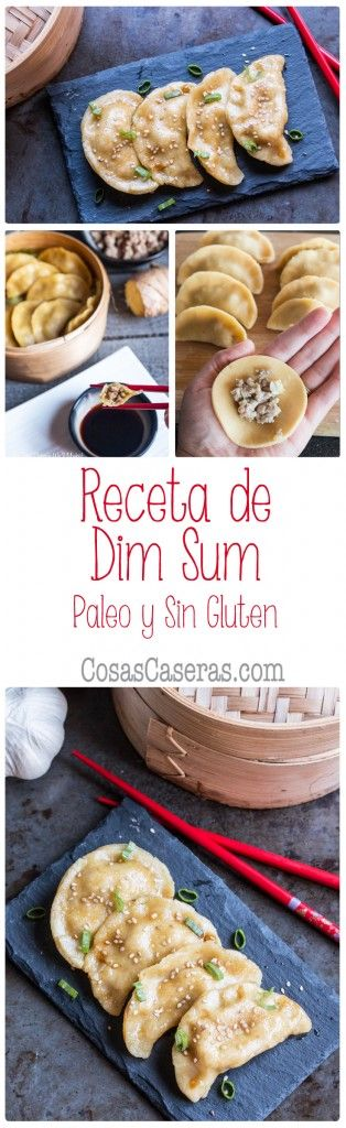 Os enseño hacer dim sum, unas empanadas chinas rellenas de cerdo sazonado con ajo y jengibre que se cocinan al vapor. Esta receta es paleo y sin gluten. Receta en español.