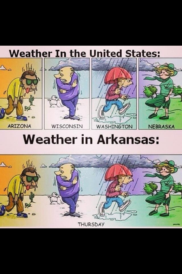 So accurate - yesterday was like 64 degrees and tomorrow we're supposed to have ice and snow . . .