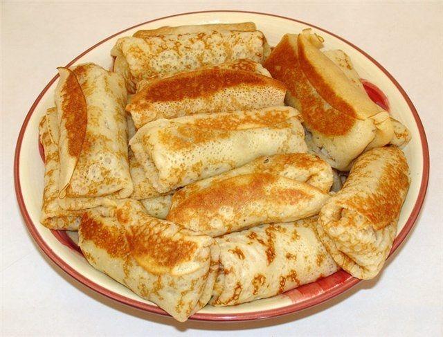 Вегетарианские блинчики с гороховой начинкой