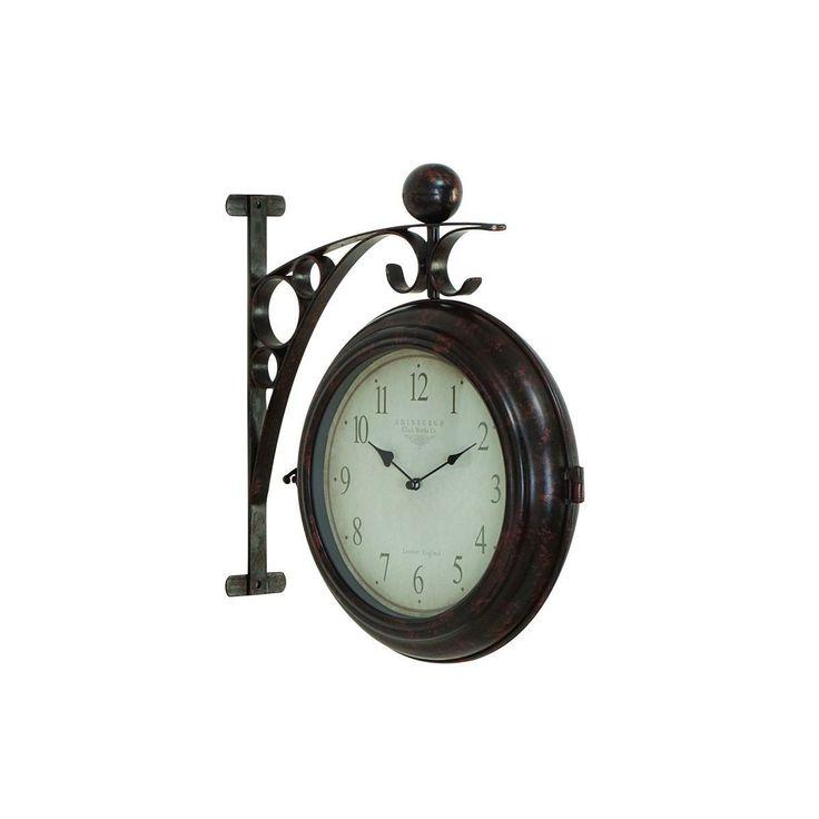 studio 350 metal 16inch x 14inch 2sided wall clock