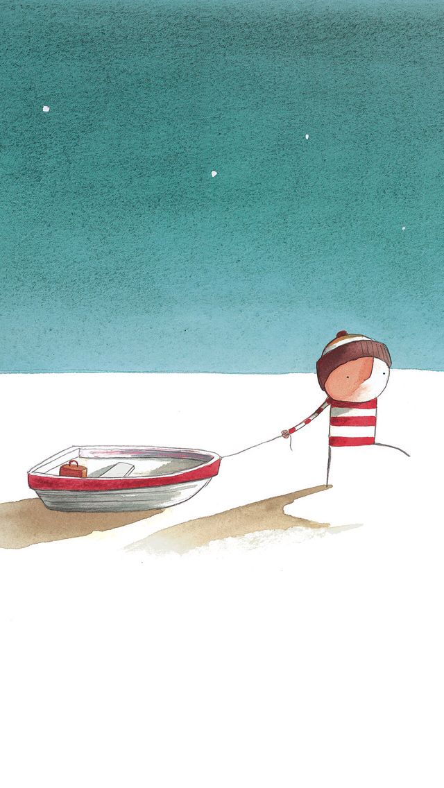 Oliver Jeffers, Lost and Found an illustrator and children's book author that I greatly admire. His innocent stories and softly drawn characters are the way that I hope to approach my twenty second story of The Waiting Room.