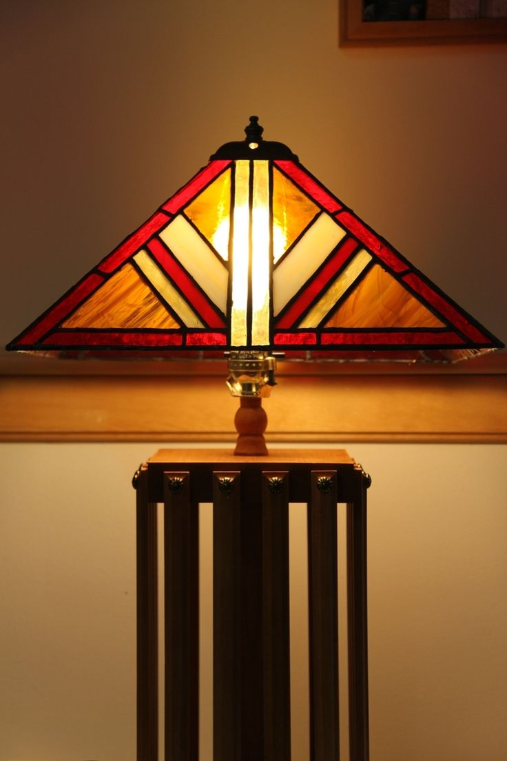 68 best stained glass lamps images on pinterest night lamps custom made mission style lamp with stained glass lamp shade aloadofball Images