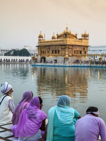 India, Punjab, Amritsar, Pilgrims at the Harmandir Sahib, Known As the Golden Temple