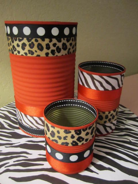 Set of  3 DECORATIVE CANS by partiesgalore on Etsy, $11.00