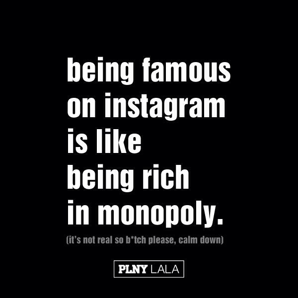 being famous on instagram