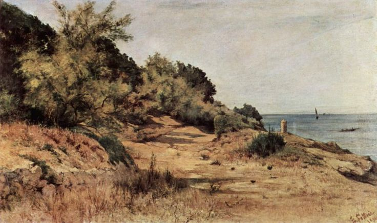 Wooded Beach by Giovanni Fattori 1894