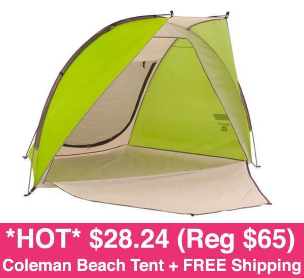 While supplies last Jet is offering an awesome deal on the Coleman Beach Shade Tent on sale for $38.24! New Customers can score an extra $10 off u2026  sc 1 st  Pinterest & While supplies last Jet is offering an awesome deal on the ...