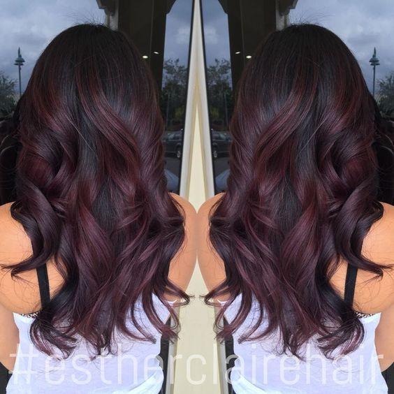 ombr hair cerise la couleur tendance pour les brunes 22 photos tendance coiffure - Ombr Hair Maison Sur Cheveux Colors