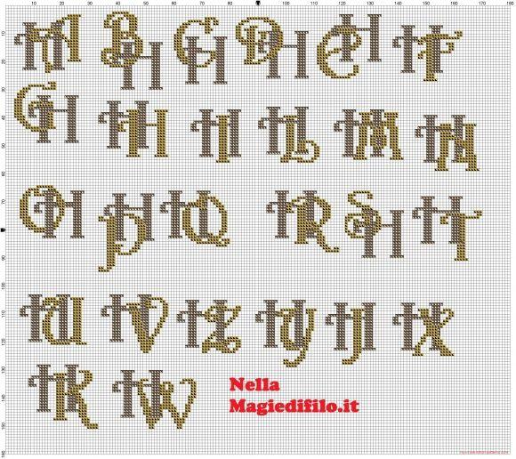 Iniciales letras entrelazadas H