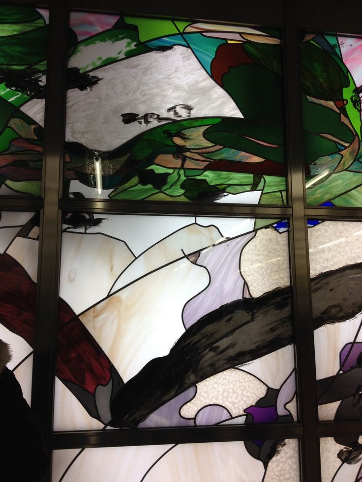 Stained glass at metro station