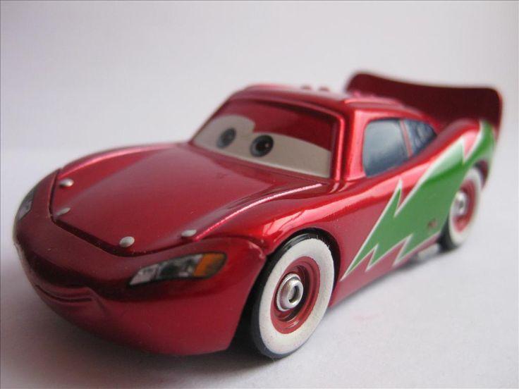 Disney Pixar Cars / Bilar / Mcqueen Flash grön på sidan Metallic