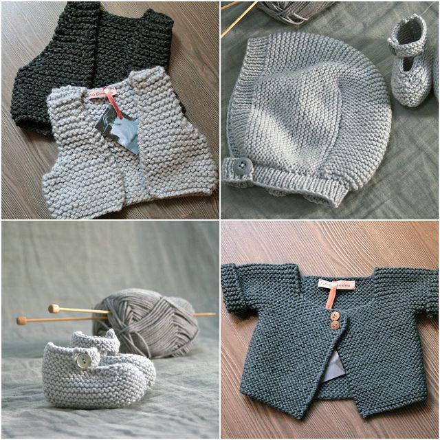 - The garter stitch sweater