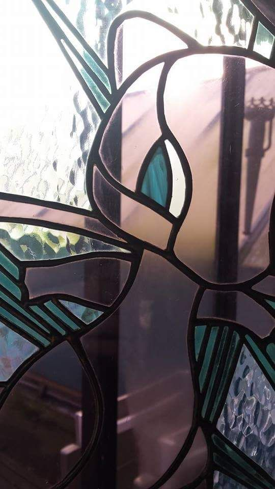 Detail of Mew stained glass, by RannDago.