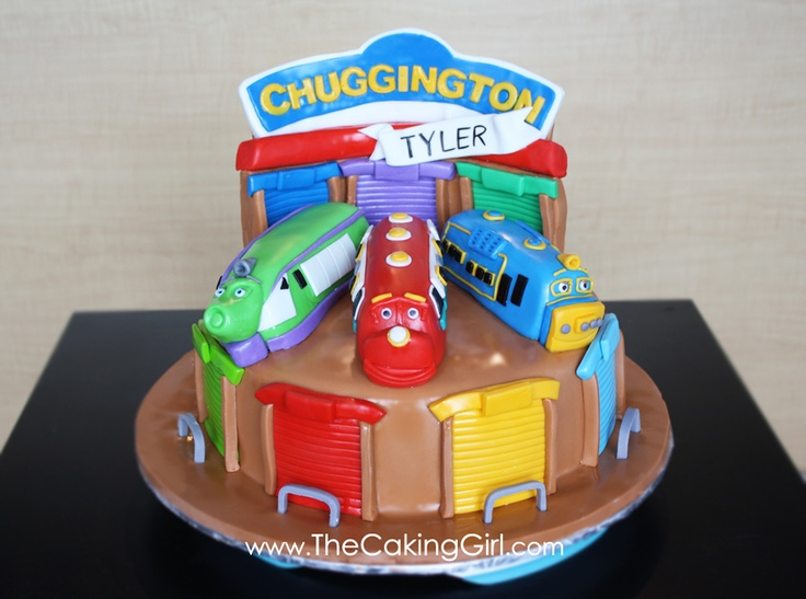 The Caking Girl: Chuggington Cake! Wilson, Brewster and Koko!
