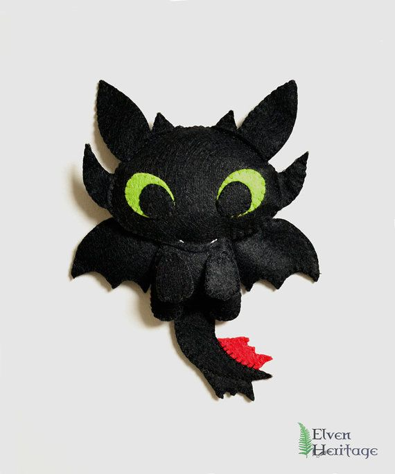 How To Train Your Dragon Toothless felt plushie