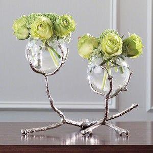 Twig 2 Vase Holder - Nickel - Medium