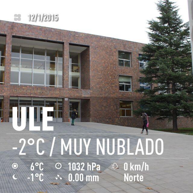 El tiempo ahora en el campus de Vegazana. Lunes, 12 de enero de 2015.