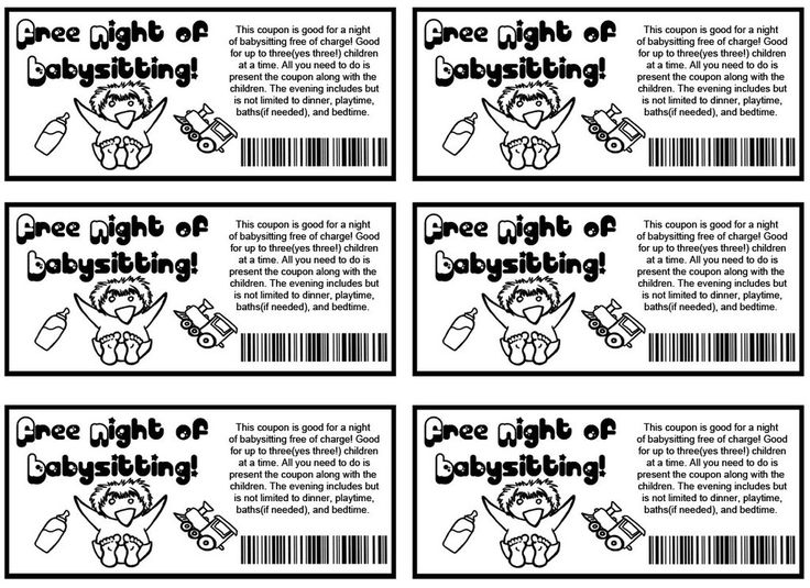 Babysitting Coupons By ZombieObsessions.deviantart.com On @deviantART  Free Coupon Template