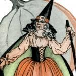 Awesome Vintage Witch Halloween Art