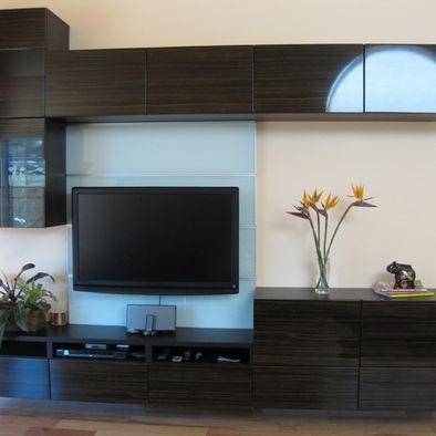 Modern living room entertainment center design ikea for Floating entertainment center ikea