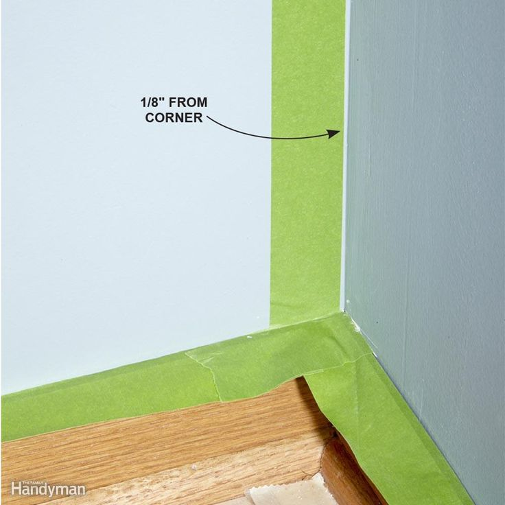 Painting Inside Corners - When you're changing wall colors at an inside corner…
