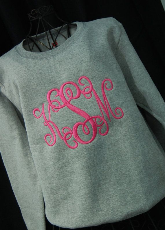 Monogrammed Sweatshirt  would love opinions on whether or not people would really wear these